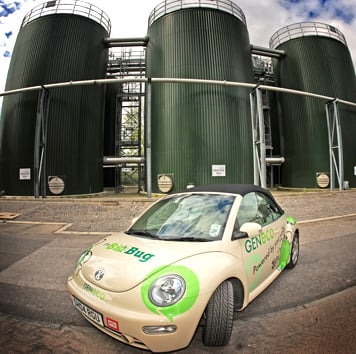 The GENeco Bio-Bug CNG fuelled Beetle. Credit: Wessex Water