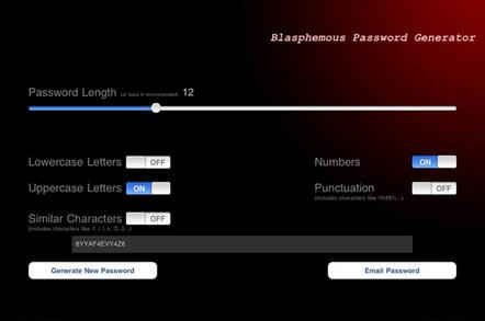 Blasphemous Password