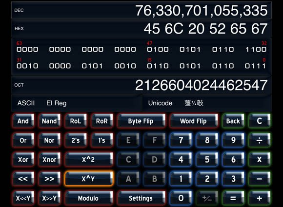 64 Bit Calculator HD