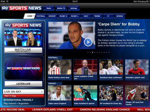 Sky rolls out Sports News app • The Register