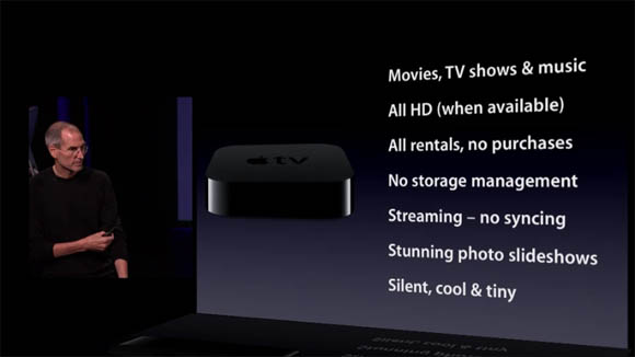 Steve Jobs introducing the Apple TV