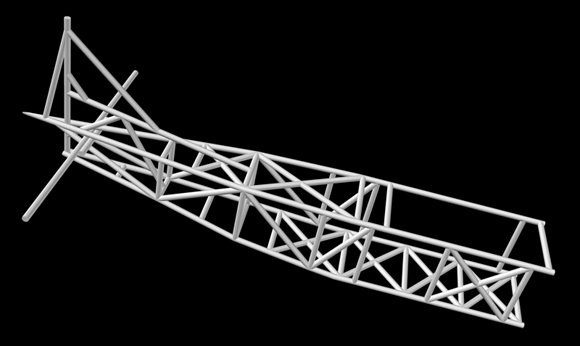 Vulture 1 fuselage seen in CAD