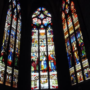 Auch Cathedral stained glass bay