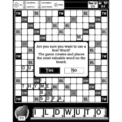 Scrabble screen shot