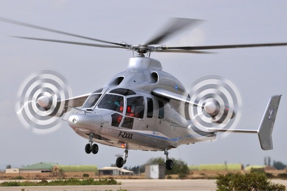 The Eurocopter X3 prototype in flight tests. Credit: Eurocopter