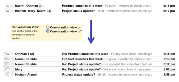 Gmail 'Conversation View'