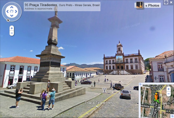 Street View captures Ouro Preto