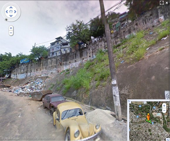 As far as the Street View vehicle goes into Rocinha