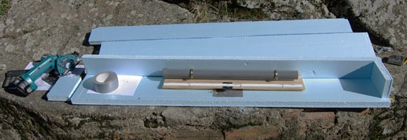 The main payload styrofoam box components with release mechanism