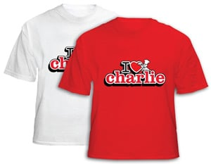 The Little Chef I Love Charlie t-shirt