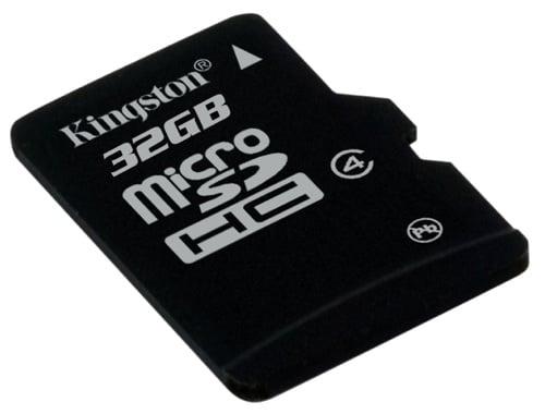 Kingston Micro SDHC memory card