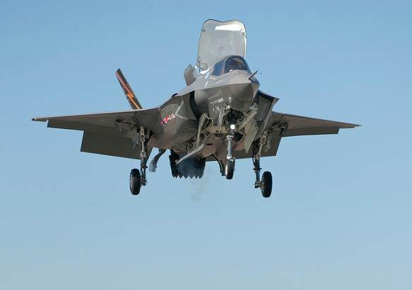 The F-35B in the hover. Credit: Lockheed