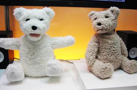 Fujitsu's social robot teddy bears