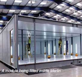 Merlin Data Center Module Fitting