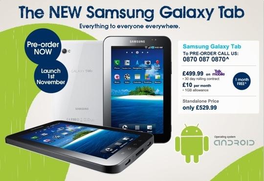Carphone Warehouse Slashes Samsung Galaxy Tab Price The