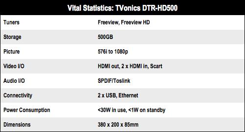 TVonics DTR-HD500
