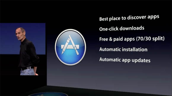 Steve Jobs introduces the Mac App Store