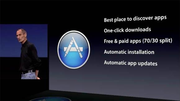 Steve Jobs introduces the Mac App Store