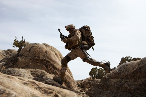 The HULC soldier exoskeleton in trials. Credit: Lockheed
