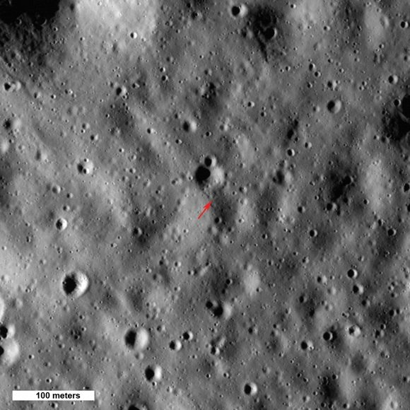 The highest point on the Moon. Credit: NASA/GSFC/Arizona State University