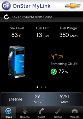 OnStar screen shot