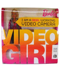 Barbie Video Girl inside retail box. Text on front says: