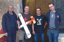 Steve, Lester and John with Tito and the Vulture 1