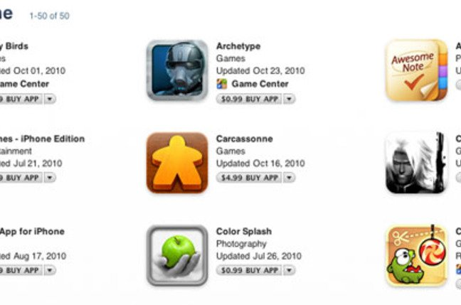 iTunes App Store Hall of Fame