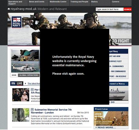 Royal Navy website is down