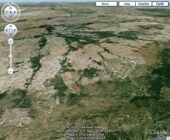 The same vista seen on Google Earth