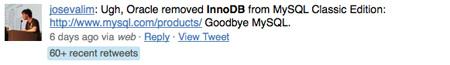 InnoDB Tweet