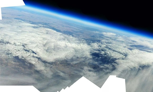 Composite view of PARIS images of edge of space. Pic: Jon Grove