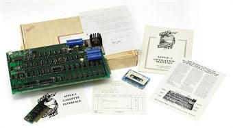 Apple1 -motherboard, number 82, printed label - pic credit Christies