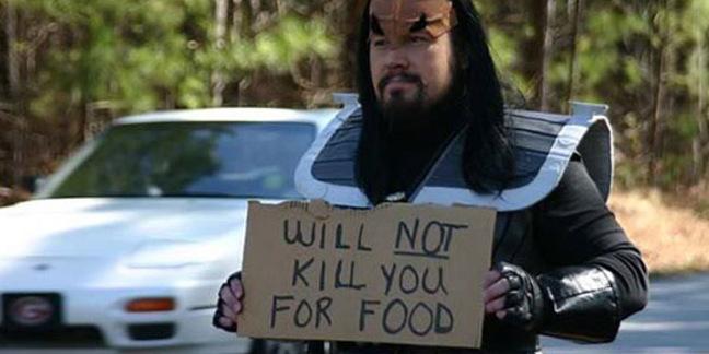 Homeless Klingon