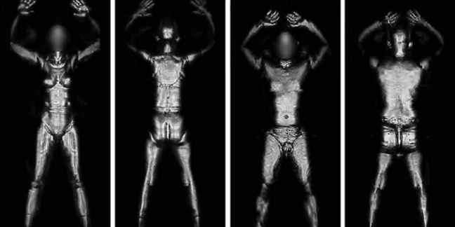 Example imagery produced by AIT millimetre wave airport scanner. Credit: TSA