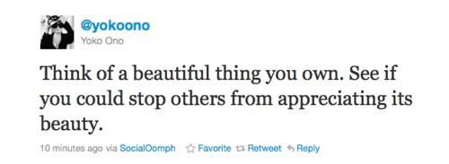 Yoko tweet