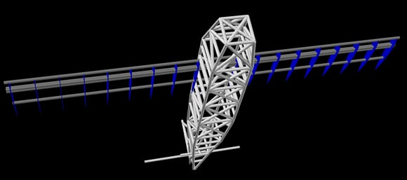 CAD view of the Vulture 1 structure