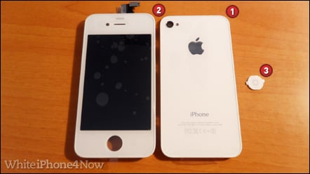 White iphone 4 conversion kit