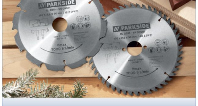 LIDL's soft toy showing circular saw blades