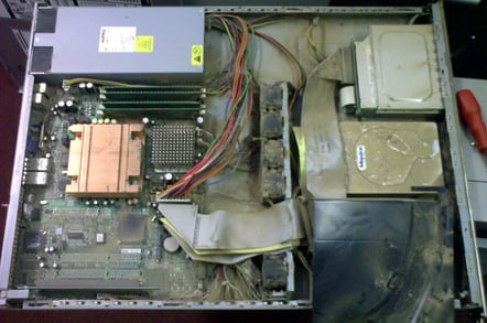 Rather dirty PC interior