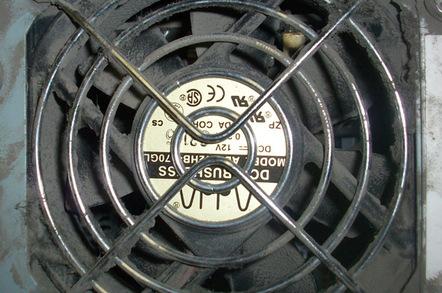 Dusty fan vent