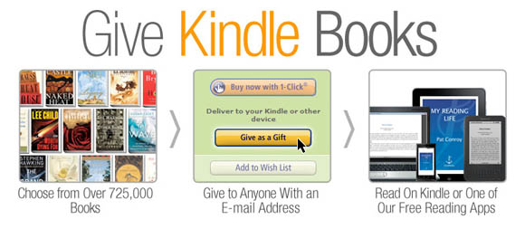 Kindle book-gifting service
