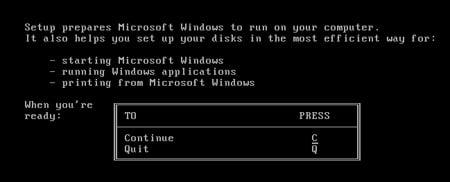 Windows 1 set up