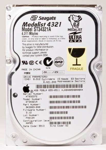 Bondi Blue Rev. B iMac - hard drive