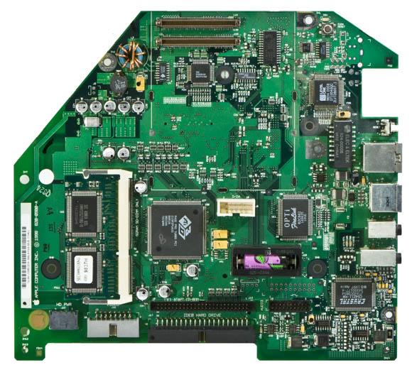 Bondi Blue Rev. B iMac - logicboard, top