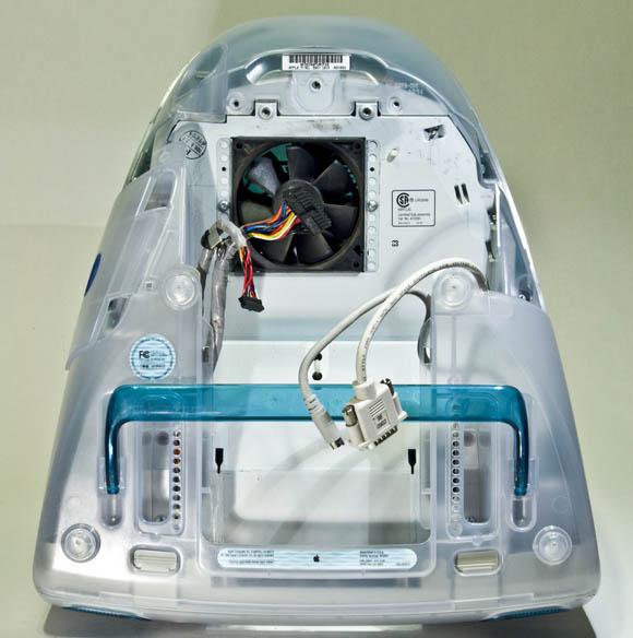 Bondi Blue Rev. B iMac - bottom, open