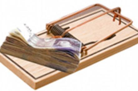 money trap conceptual illustration