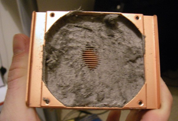 Dust-clogged heatsink