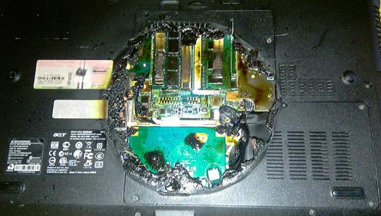Laptop Burn