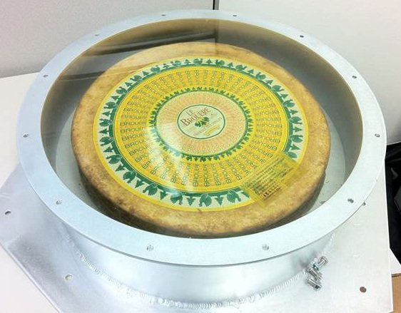 The cheese sent into space on the inaugural Dragon flight. Credit: SpaceX/Chris Thompson
